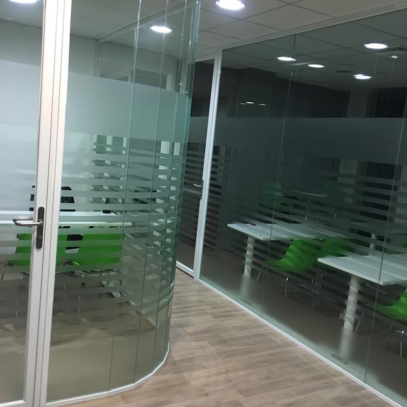 Cierres ac sticos oficina - Tabique de vidrio ...